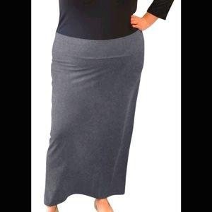 Olsen dark gray s16 maxi skirt